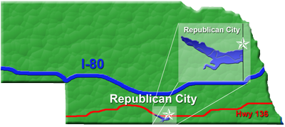 Republican City, NE and Harlan County Lake